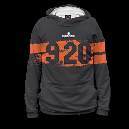 Худи WOT 9.20 черно-оранжевые