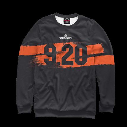 Толстовки WOT 9.20 черно-оранжевые