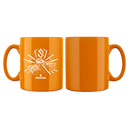 Кружка WoT Sabaton Tank logo оранжевая