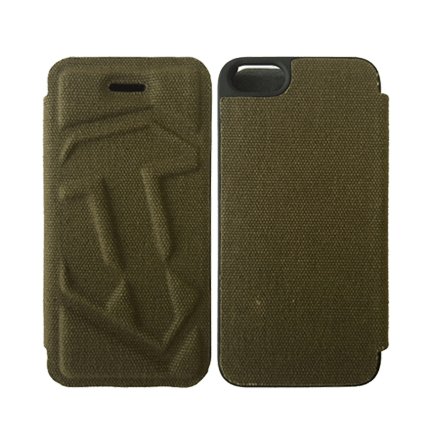 Чехол-книжка для iPhone 4/4S (зеленый)