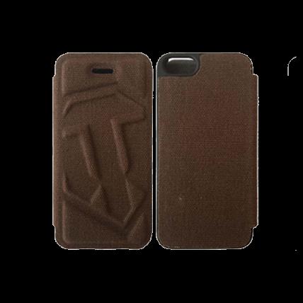 Чехол-книжка для iPhone 4/4S (коричневый)