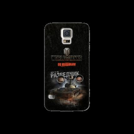 """Чехол Art Case и защитная пленка WOT """"Разведчик"""" для Samsung Galaxy S5, Deppa"""