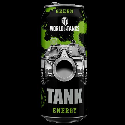 Энергетический напиток WOT TANK Energy GREEN
