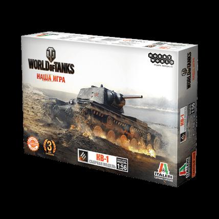 World of Tanks. Сборная модель танка КВ-1 в масштабе 1:56