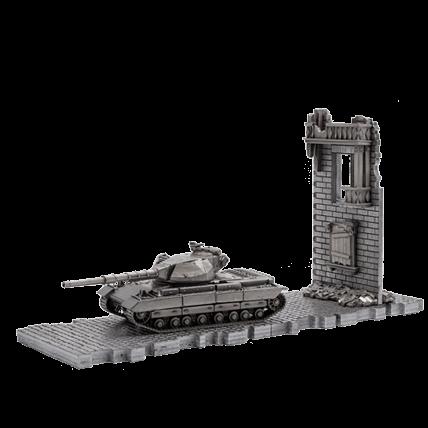 Танк Super Conqueror (1:72) с диорамными подставками и декоративными элементами