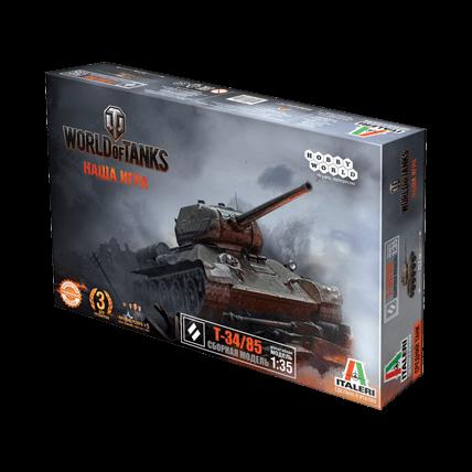 World of Tanks. Сборная модель танка Т-34/85 в масштабе 1:35