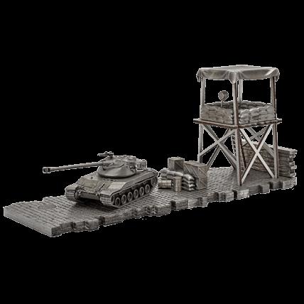 Танк Bat.-Chatillon 25 t (1:72) с диорамными подставками и декоративными элементами