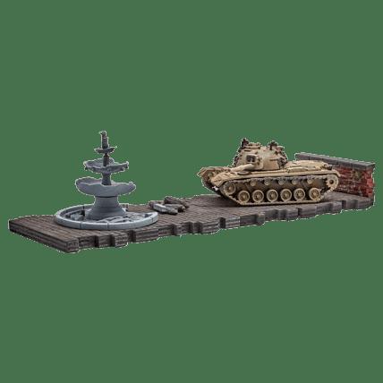 Танк M48A5 Patton (1:72) в цвете с диорамными подставками и декоративными элементами