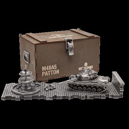 Танк M48A5 Patton (1:72) с диорамными подставками и декоративными элементами