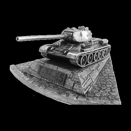 Танк Т-34-85 с подставкой (1:100)