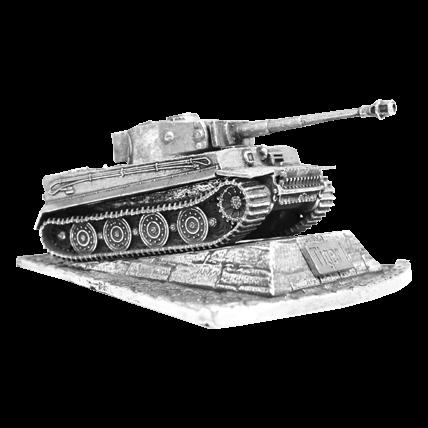Танк Tiger I с подставкой (1:100)