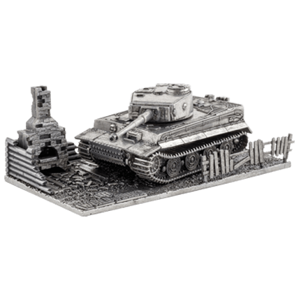 Танк Tiger I с подставкой (1:72) WoT