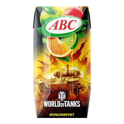 Нектар World of Tanks мультифрукт 0.2л