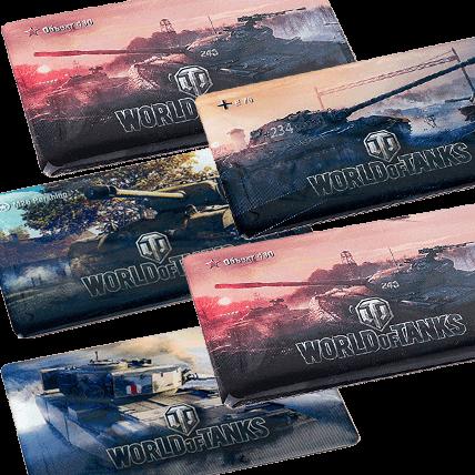 Магниты World of Tanks виниловые, набор №2 (5 штук)