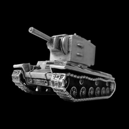 Танк КВ-2 без подставки (1:100)